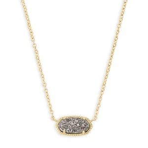 Kendra Scott Elisa Necklace - Gold/Platinum Drusy